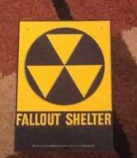 Fallout shelter sign original 1960's. 10 X 14.  Loc A