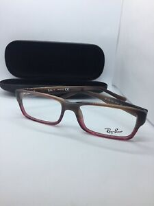 d088399d3ae99 NEW Authentic Ray Ban RB 5169 5541 Brown Horn-Burgundy RX Eyeglasses ...