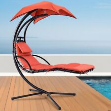 Helicopter Swing Hammock Garden Chair Chaise Sun Lounger Hanging Canopy Uk