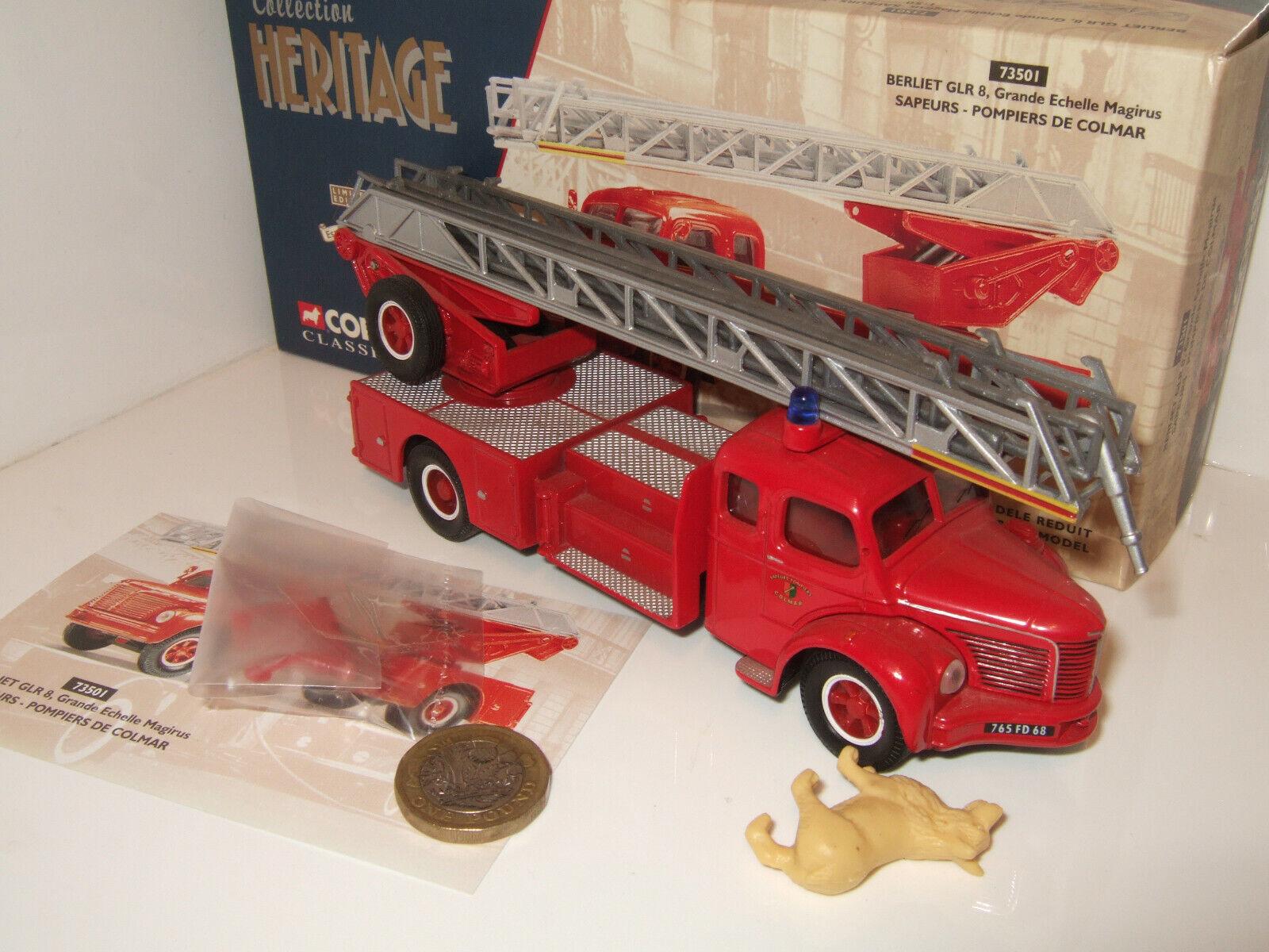 Corgi 73301 Berliet GLR 8 Fire Engine for Colmar Diecast Model in 1 50 Scale