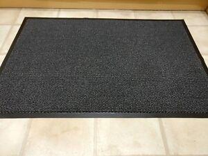 80x140cm Gris Alfombra De Piso Estera De Puerta de Barrera Casa Oficina Corredor Ruber Alfombra Antideslizante