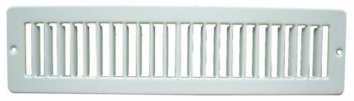Wall Register AC Toe Kick Grille Duct Cover Metal White Brown Under Cabinet Heat