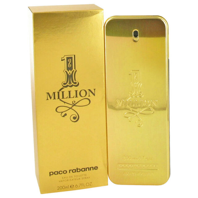 ONE MILLION 200ml EDT SPRAY FOR MEN BY PACO RABANNE -------------- NEW PERFUME #
