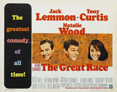 The Great race Tony Curtis Jack Lemmon movie poster 2