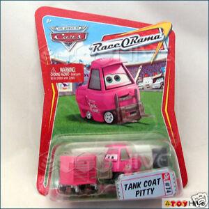 RACE O RAMA DISNEY CARS 1 2 3 DIECAST 1:55 TANK COAT PITTY #74 UK!