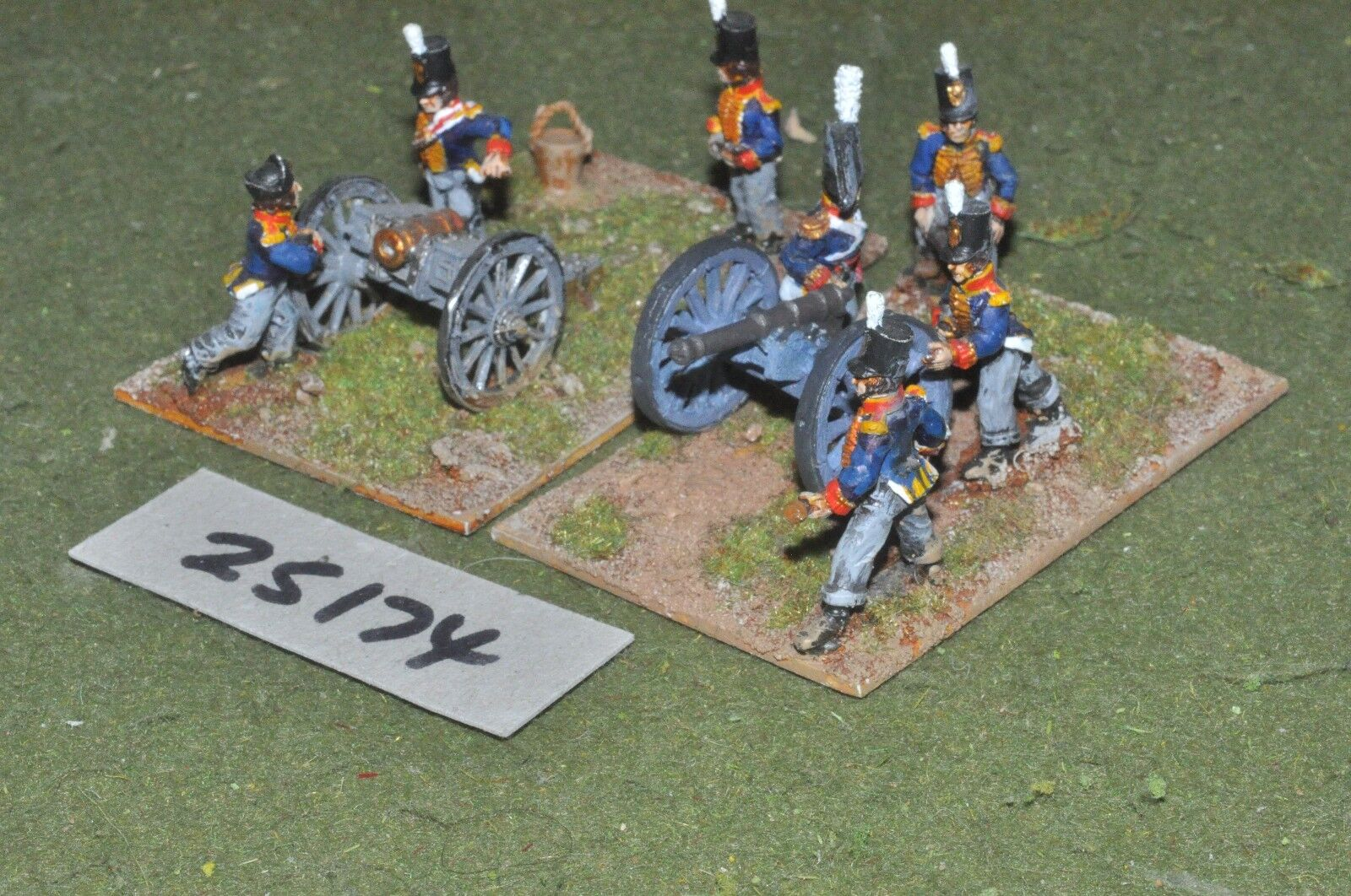 25mm napoleonic     british - foot 2 guns & crews - art (25174) 80a8bd