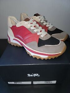NEW Coach mens shoes size  9D NIB Monochrm c143 runner