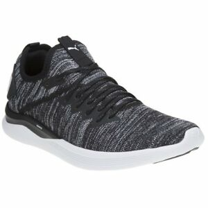 New MENS PUMA BLACK IGNITE FLASH EVOKNIT TEXTILE Sneakers Running ... a58dfe5b6