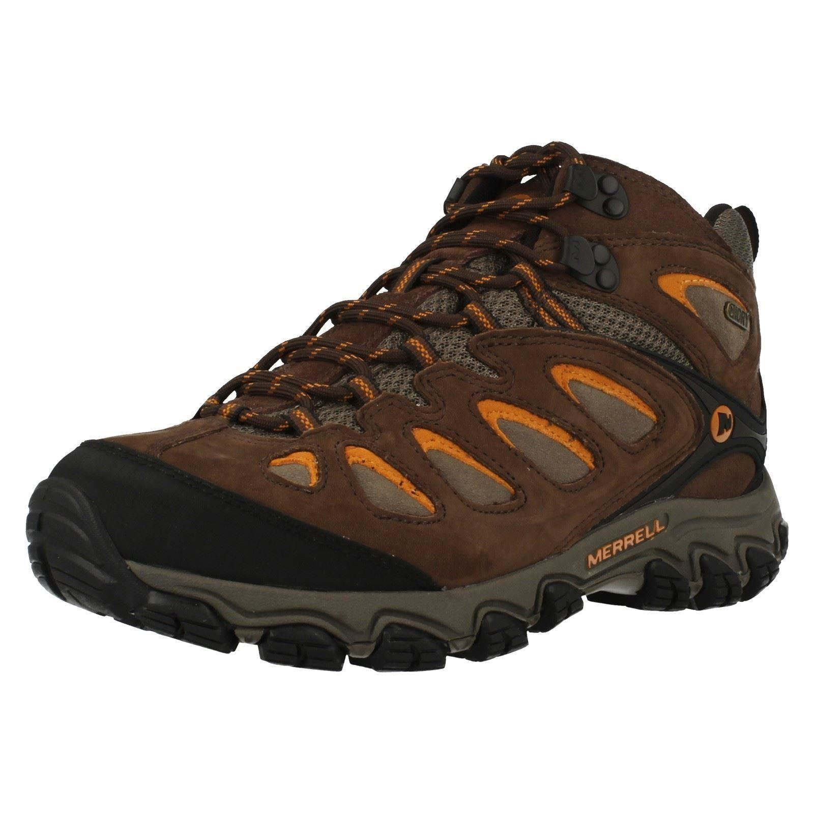 Merrell 'Pulsate Mid' Men's Brown Waterproof Walking Hiking Trail shoes