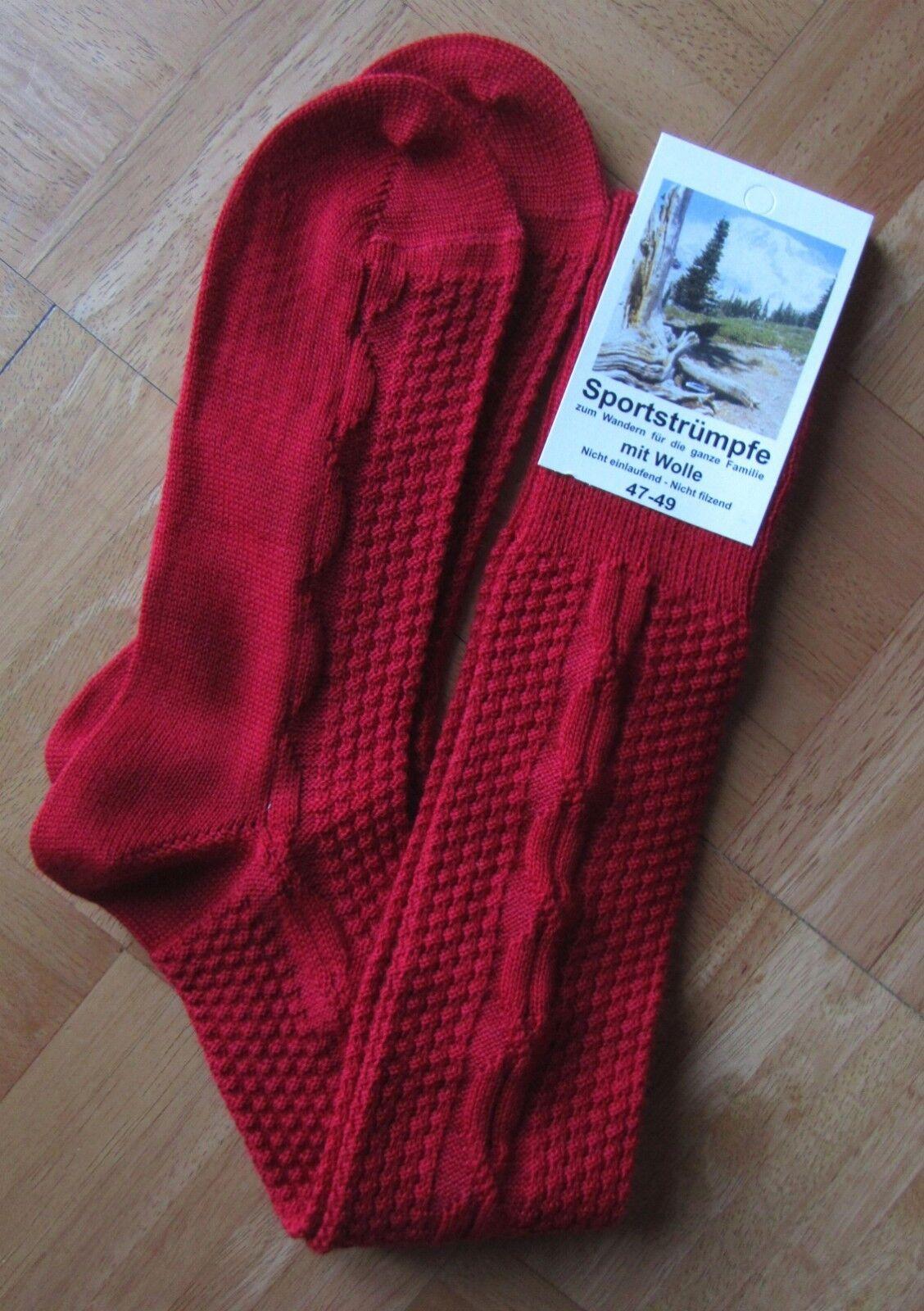 Lederhosen Socks Gents German Red Hunters Socks L-XL