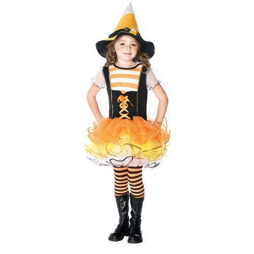 Candyland Witch Costume Girls Enchanted Costumes Sz Xs 3 4 Candy Corn Halloween For Sale Online Ebay