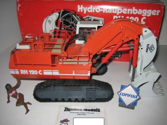 O&k Rh 120 C Excavatrice Voie Haute Caterpillar #2771.2 Conrad 1:50 Ovp