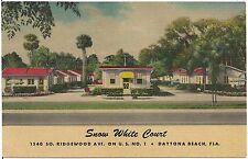 Snow White Motor Court in Daytona Beach FL Postcard