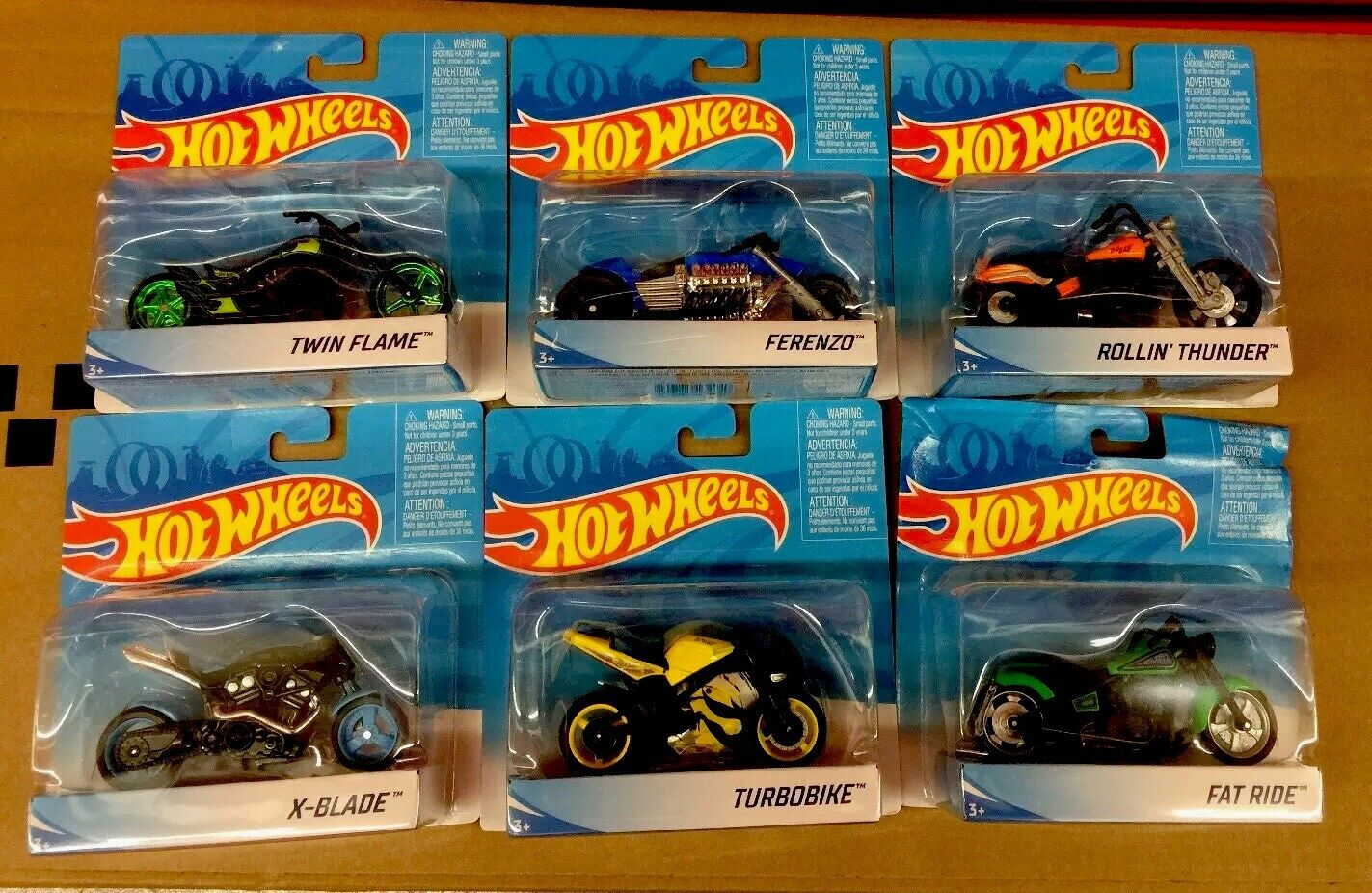 Hot Wheels Moto Série X4221 Ensemble Complet Lot de 6