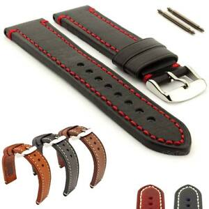 Men-039-s-Two-piece-Genuine-Leather-Watch-Strap-Band-18-20-22-24-Catalonia-MM