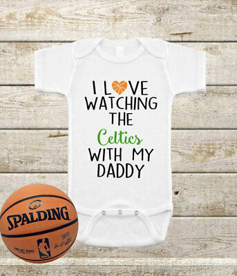 Boston Celtics Infant Bodysuit Shirt Outfit Watching With