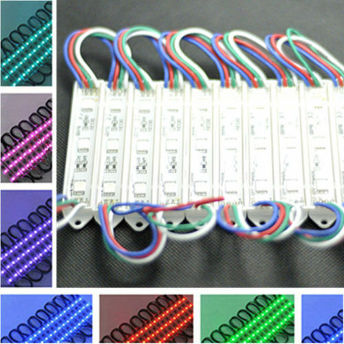 20 PIECES COVER 10 FEET WINDOW LED MODULE LIGHTS COLOR RGB CAR BOAT WATERPROOF