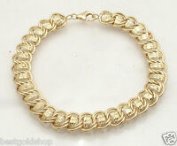 Qvc Diamond Cut Double Wire Curb Bracelet Real 14k Yellow Gold Free Shipping