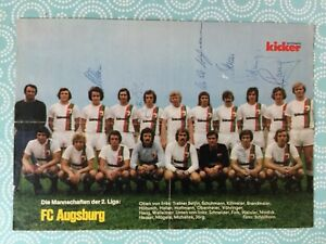 Mannschaftsbild-mit-Autogrammen-FC-AUGSBURG-74-75-fuer-Fans-Geschenk-Idee-B112
