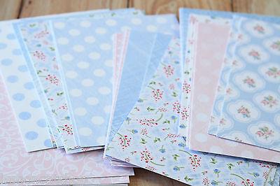 Floral Deco postcards 270gsm shabby chic DIY wedding invites craft card stock