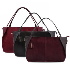 Crossbody-Bag-with-Suede-Leather-and-Top-handle-Tote-design-Leisure-pattern