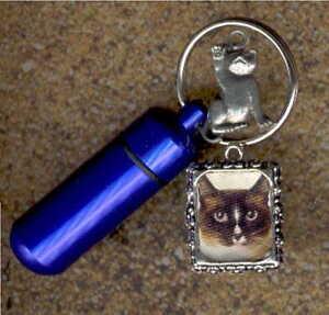 ADS,Key Chain Urn,Pet Urn,Feline,Cat,Dog,Cremation Urn,Cremation Cylinder