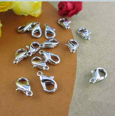 lot 100/500/1000pcs 12mm Lobster Clasps Claw Jewelry Hook Findings  LXK01