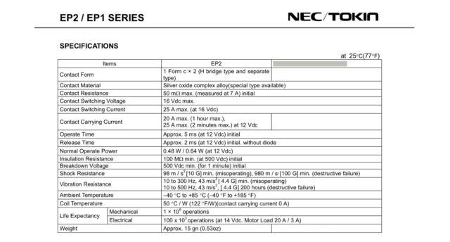 1pcs Ep2-3n1st NEC Encapsulation Relay Automotive Relays for sale online