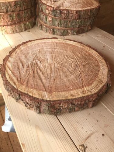 """11/"""" wedding // table centerpieces 8 Rustic logs approx 10/"""" 27cm Cake Stands"""