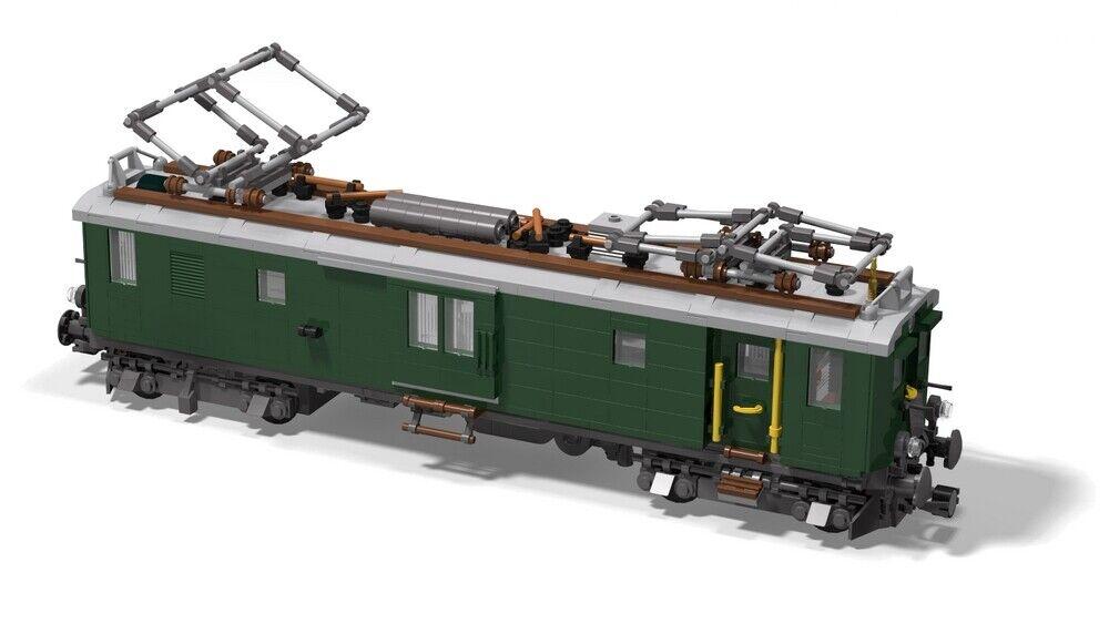 10219 PDF-Anleitung Elektrolok SBB Re 460 MOC Unikat LEGO©-Steinen 60198