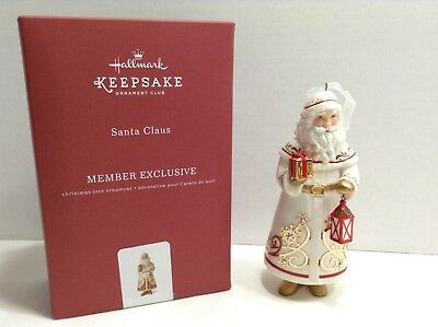 Hallmark 2017 Santa Claus Porcelain KOC Club Exclusive Ornament