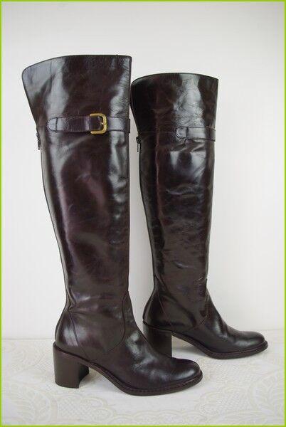 Boots Leggings LA SCARPA Paris Brown Leather T 36 TOP CONDITION