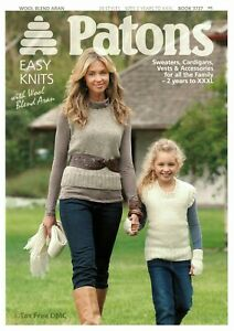 7b284e3ee VAT Free HAND KNITTING PATTERN ONLY Patons Family Easy Knits Jumpers ...