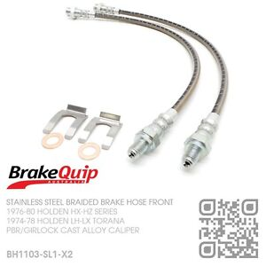 BRAIDED-STAINLESS-BRAKE-HOSE-ALLOY-CALIPER-DISC-FRONT-HOLDEN-HX-HZ-SILVER