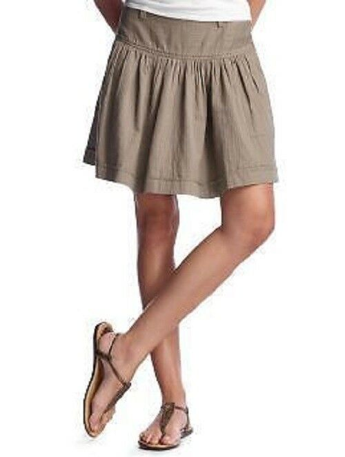 GAP 08 Sold out tan shirred yoke pleated skirt 12
