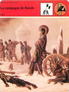 FICHE-CARD-la-Campagne-Retraite-de-Russie-Grande-Armee-1812-Napoleon-France-90s