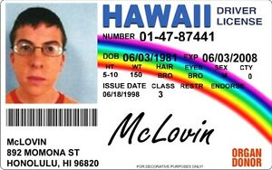 Entertainment Photo Fun Id Card License Prank Ebay Driver Your With Hawaii