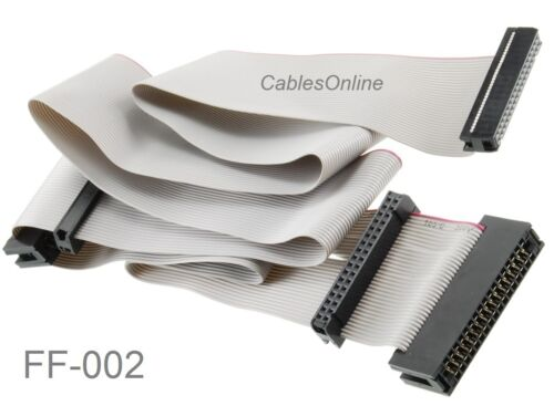"36/"" Universal 34-Pin Floppy Drive Ribbon Cable for 3.5/"" and//or 5.25/"" Drives"