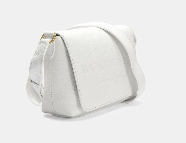 55226b1ee46a Burberry Burleigh Soft Leather Crossbody in Chalk White for sale online