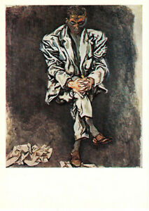 1979-RARE-Russian-postcard-SITTING-MAN-by-Renato-Guttuso