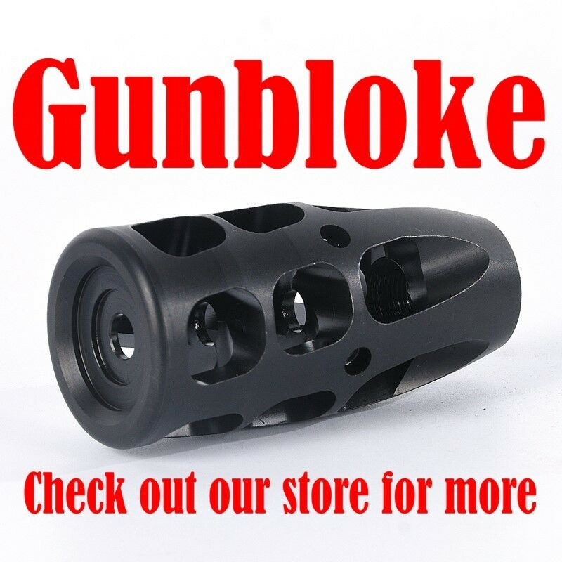 MUZZLE BRAKE - THE EQUALIZER - all cals made to suit - 3 4x24 thread - GUNBLOKE