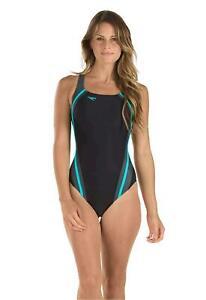 Speedo Women's Quantum Splice PowerFLEX Eco One Piece, Bali Blue, Size 6.0 xrmM