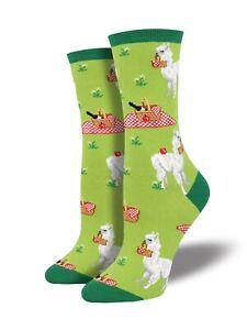 Alpaca-Pattern-Green-Novelty-Socks-Ladies-Girls-Christmas-Secret-Santa-Socksmith