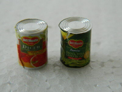 (f2-21) Dolls House Food :pack Of Two Veggie Tines (empty)