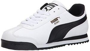 35357204 Classic Basic Tutte Puma Nero Roma uomo Bianco Sneakers da le misure Scarpe AgqgnRxE