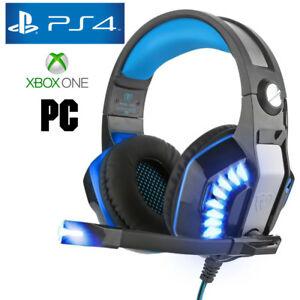 Cuffie-Gamer-PS4-Pro-per-PlayStation-4-Xbox-amp-PC-COMPUTER-One-Cuffie-Blu-4