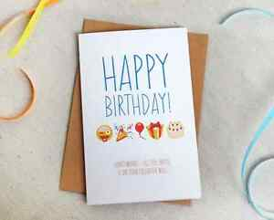 Image Is Loading Funny Birthday Card For Anyone Facebook Wall Emoji