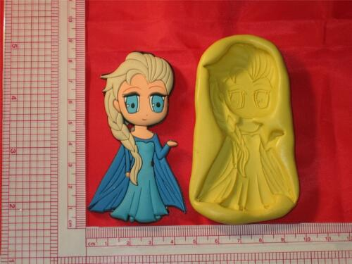 Frozen Elsa Silicone Mold Cake Chocolate Resin Clay A689 Fondant Candy Fimo