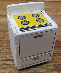A24 Particle Board Vintage Dollhouse Doll House Stove Oven