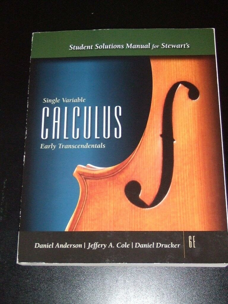 Single Variable Calculus by James Stewart (2007, Paperback, Student Manual)  | eBay